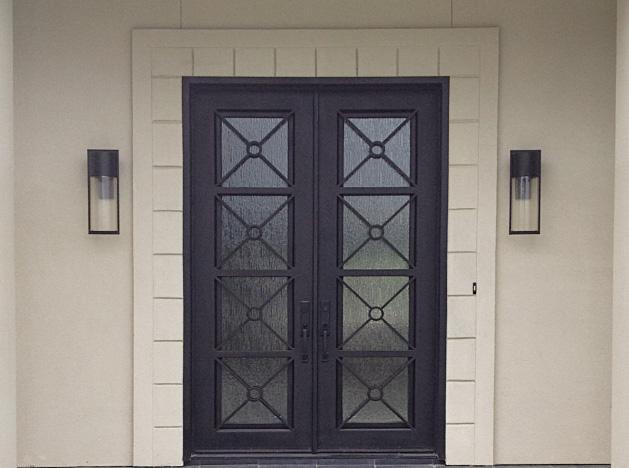 Custom Iron Door Finishes